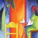 Turkish Cafe - With Apologies to August Macke by Gaby Schrott