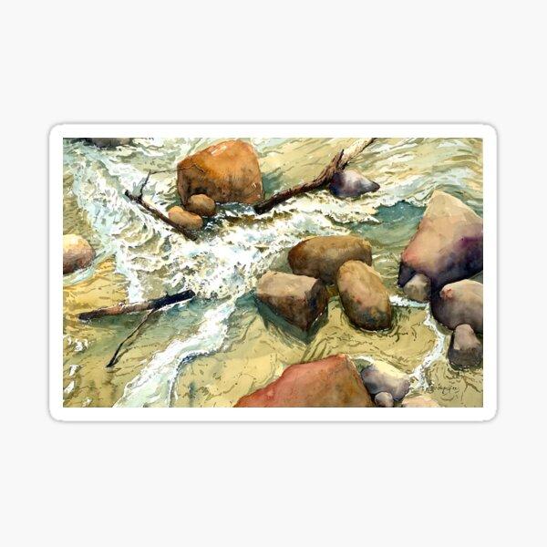 River flows Sticker