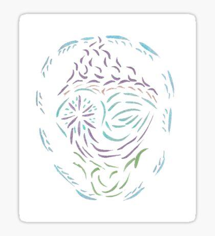 Comet Mandala Sticker
