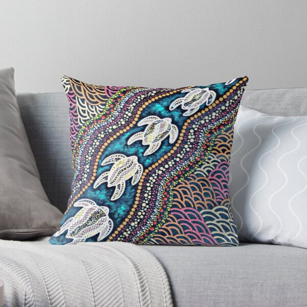 Turtle Dreaming Throw Pillow