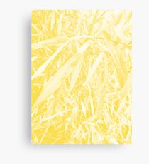 After Rain Plant Design (Buttercup Color) Canvas Print