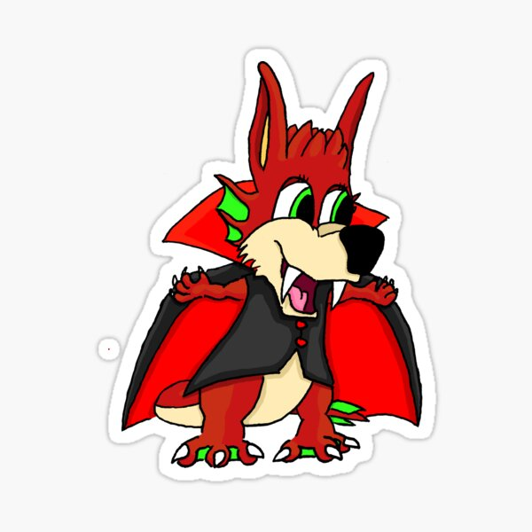 Bubba Bunyip Vampire 2015 Halloween Sticker