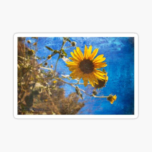Painterly Road Sunflower Sticker