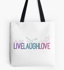 Live Laugh Love Molecules 2 Tote Bag