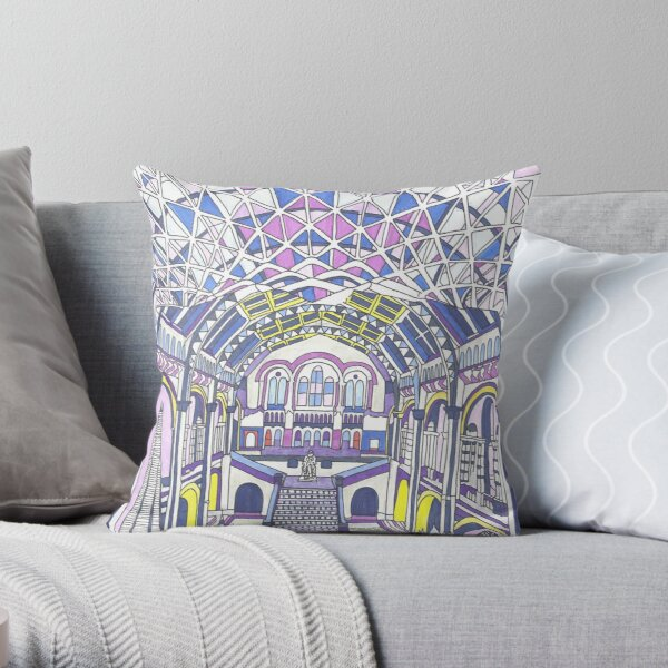 London Composition 1 Throw Pillow