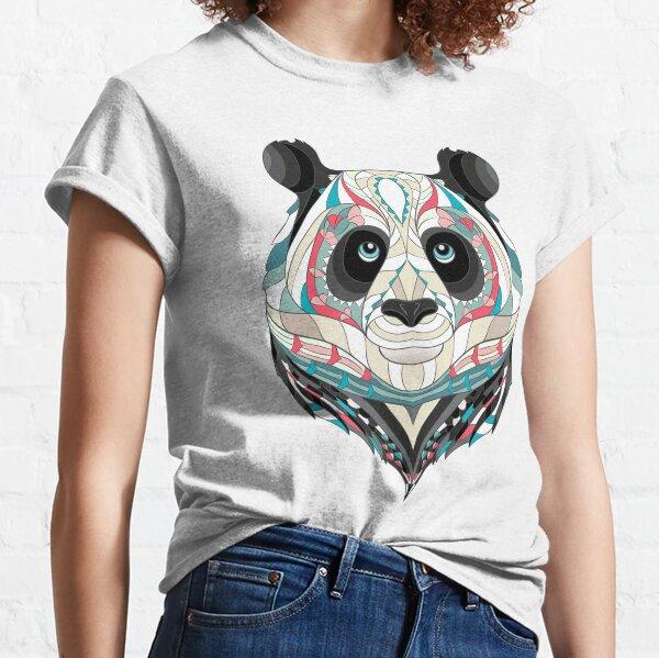 Panda bear, hand drawn panda, gifts for panda lovers, ethnic panda design, panda mandala, panda boho, panda bear gift, animal print arts, animal lovers Classic T-Shirt