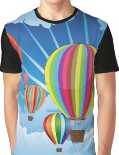 Air Balloons in the Sky 5 Graphic T-Shirt