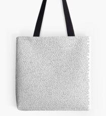 The Office pilot episode script (us) Tote Bag