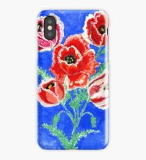 Poppies Bouquet Painting iPhone Case