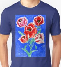 Poppies Bouquet Painting T-Shirt