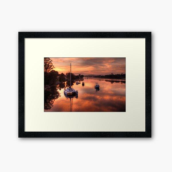 Moruya River Sunrise Framed Art Print