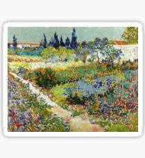 Vincent van Gogh Garden at Arles Sticker
