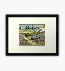 Vincent van Gogh Garden at Arles Framed Print