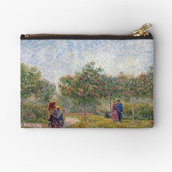 Vincent van Gogh Garden in Montmarte with Lovers Zipper Pouch