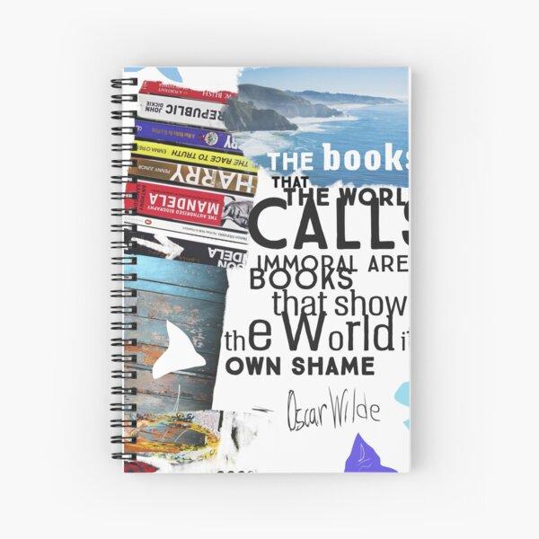 Oscar Wilde collage quote Spiral Notebook
