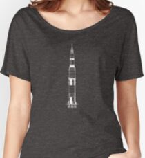 The Apollo Mission's Saturn V Rocket - white Women's Relaxed Fit T-Shirt