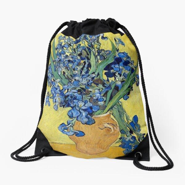 Vincent van Gogh Irises Drawstring Bag