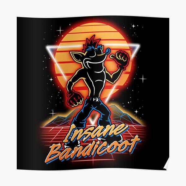 Retro Insane Bandicoot  Poster