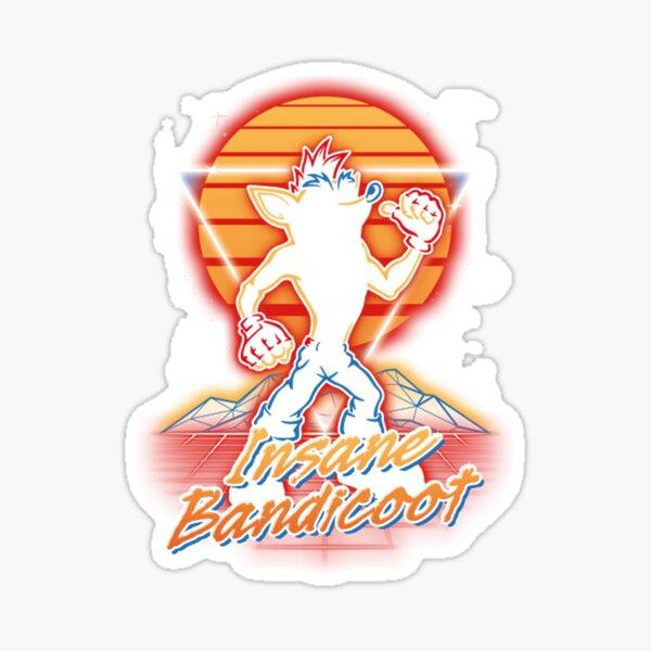 Retro Insane Bandicoot  Sticker