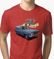 HR Holden Panel Van - Dark Blue Tri-blend T-Shirt