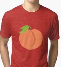 Peach Emoji Tri-blend T-Shirt