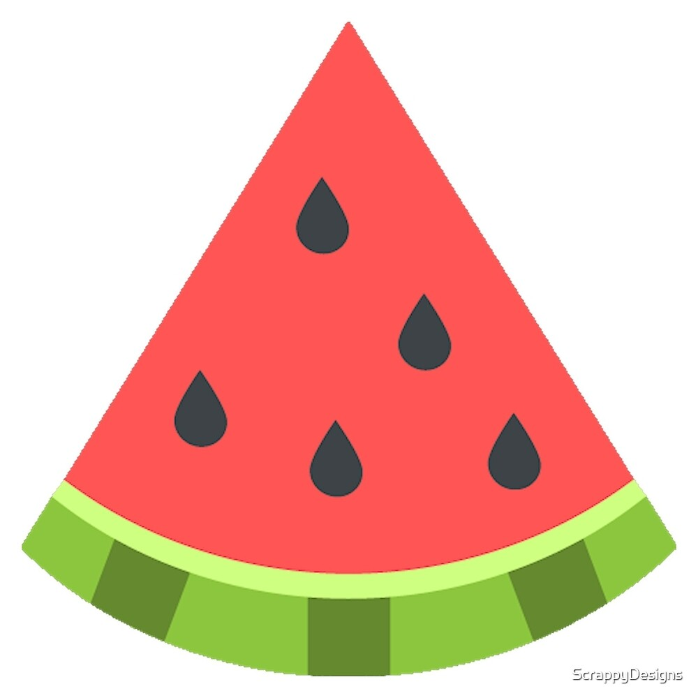 Quot Watermelon Emoji Quot By Scrappydesigns Redbubble