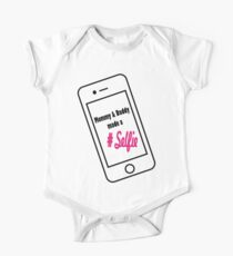 mommy and daddy made a selfie One Piece - Short Sleeve