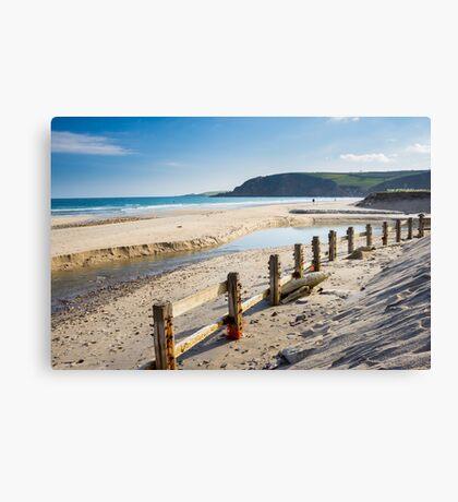 Pentewan Beach Cornwall Canvas Print