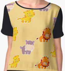 Seamless pattern african animals Chiffon Top