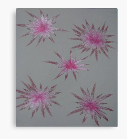 Starry Pinks Canvas Print