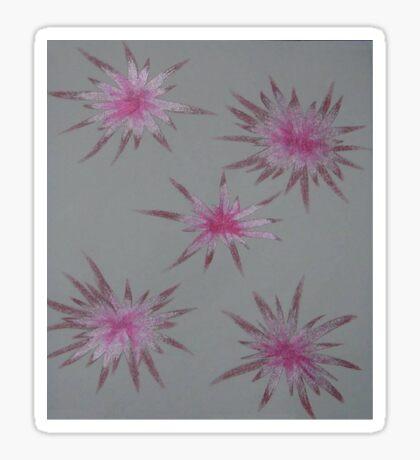 Starry Pinks Sticker