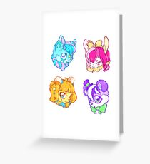 Kawaii Pastel Petz Greeting Card