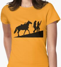 xena gabrielle and argo warrior princess Women's Fitted T-Shirt