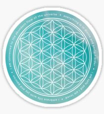 Flower of life - larimar Sticker