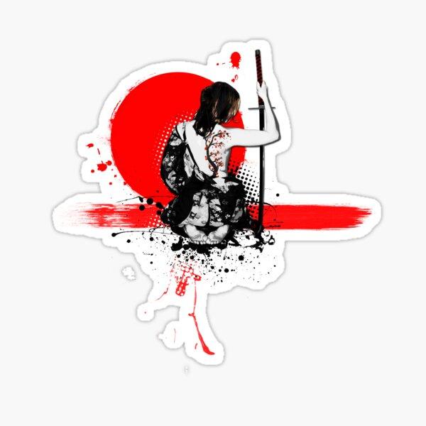 Trash Polka - Mujer Samurai Pegatina