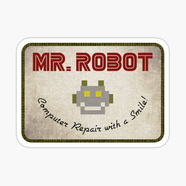 Sr. Robot Patch Pegatina