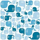 Blue Whale Pattern by dismantledesign