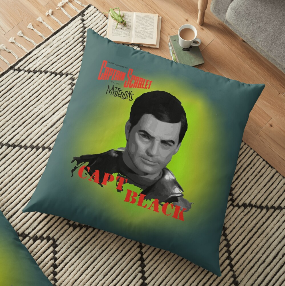 Captain Scarlet and the Mysterons Captain Black Floor Pillow
