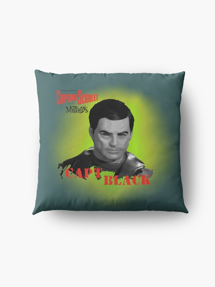 Alternate view of Captain Scarlet and the Mysterons Captain Black Floor Pillow