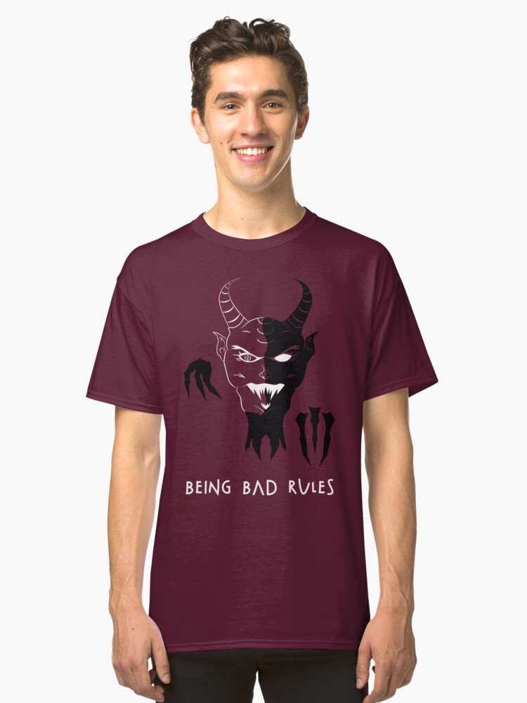 Being Bad Rules [RED] Classic T-Shirt Front