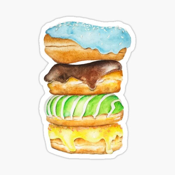 Stack Of Donuts Sticker