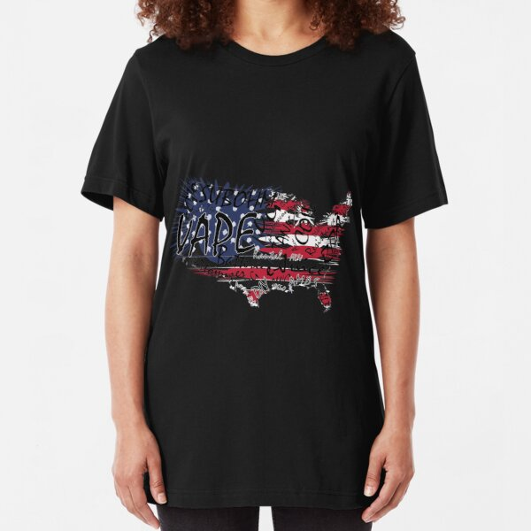 Vape Design WordCloud Vape USA Slim Fit T-Shirt