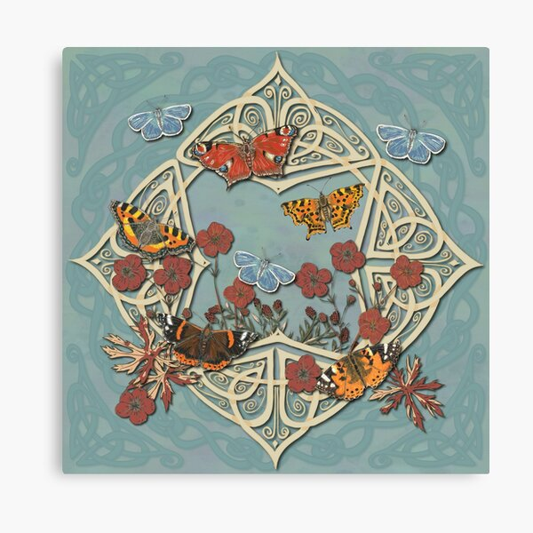 Butterfly Celtic Garden Fantasy Canvas Print