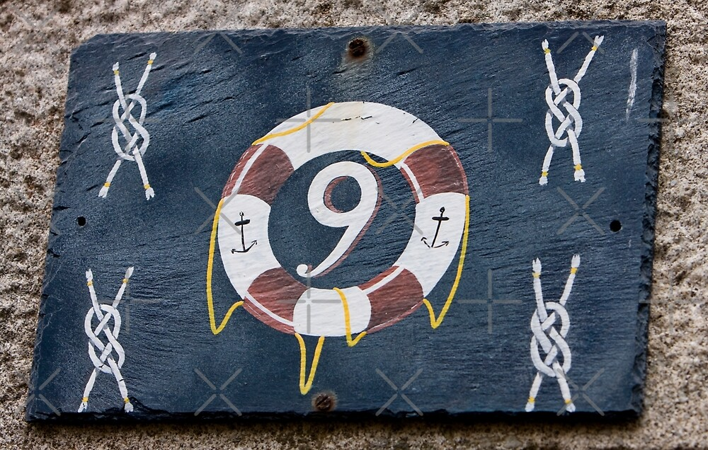House Numbers - Number 9 by Buckwhite