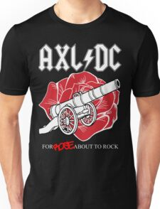 """Axl/DC """"For Rose About To Rock"""" (Black) Unisex T-Shirt"""