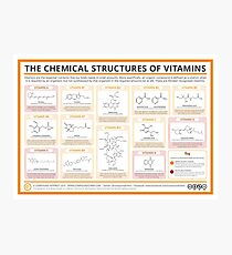 Chemical Structures of Vitamins Photographic Print