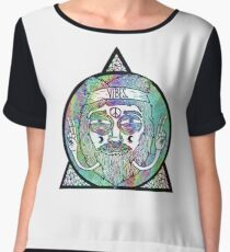 Trippy Psychedelic Hippie Design Chiffon Top