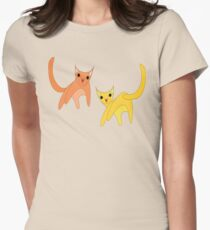 Jumpy Cats Womens Fitted T-Shirt
