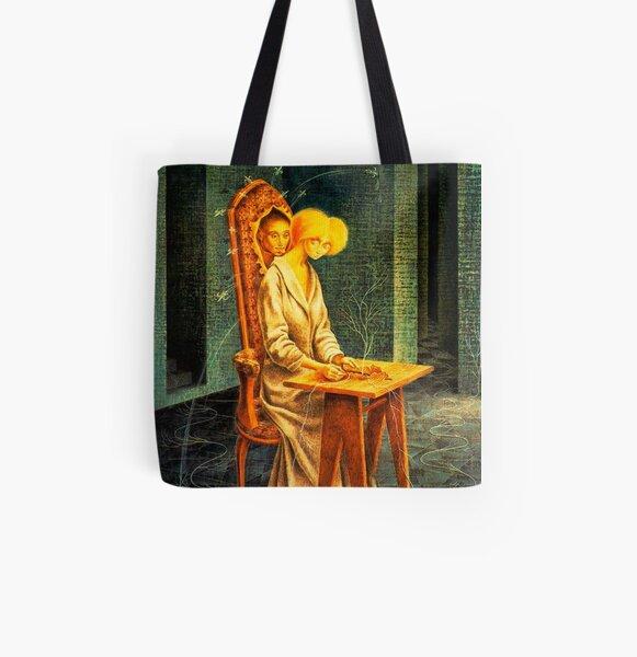 Scottish Art Tote Bag Shopping Shoulder Tote Bag: Scottish Puffin Artwork Scotland Art Design Cotton Tote Bag Tote Bag Grocery