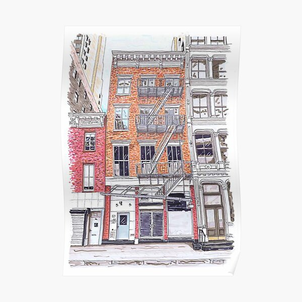 A little Life book - Lispenard Street - Hanya Yanagihara - New York Poster